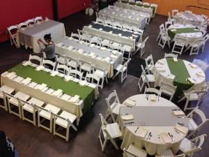 Greatroom from the Mezzanine (wedding set up)